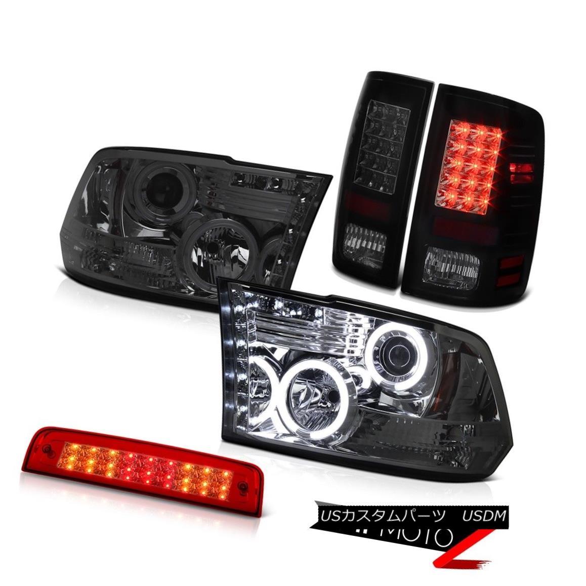 テールライト 2010-2018 Ram 3500 6.4L 3RD Brake Light SiniSTer Black Tail Lights Headlamps SMD 2010-2018ラム3500 6.4L 3RDブレーキライトSiniSTerブラックテールライトヘッドランプSMD