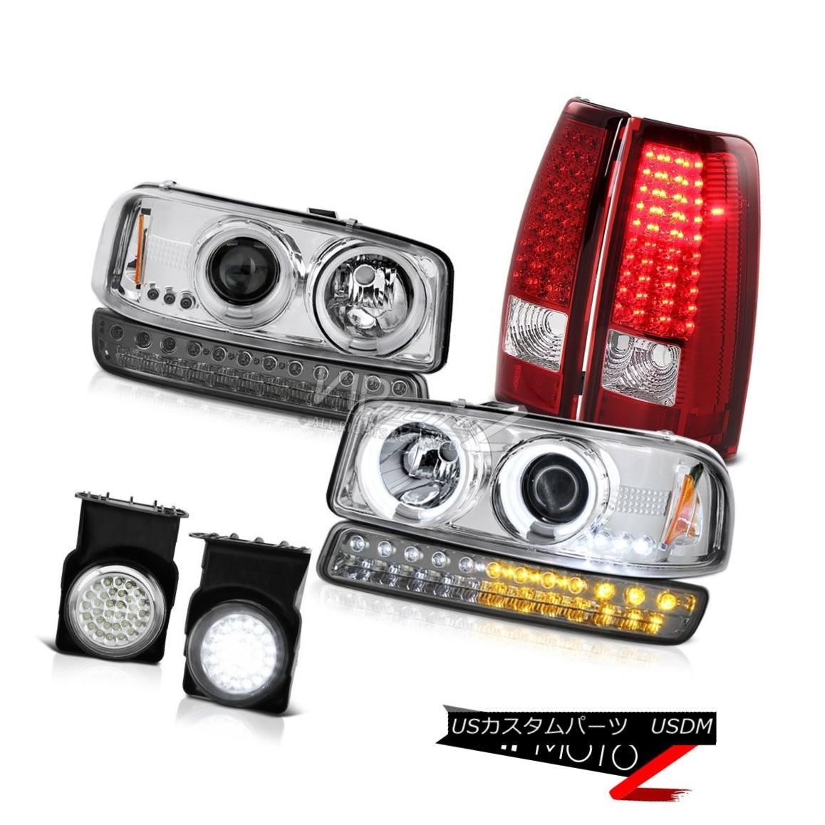 テールライト 03-06 Sierra 2500HD Foglamps LED Taillights Smokey Turn Signal CCFL Headlamps 03-06 Sierra 2500HDフォグランプLEDテールライトスモーキーターンシグナルCCFLヘッドランプ