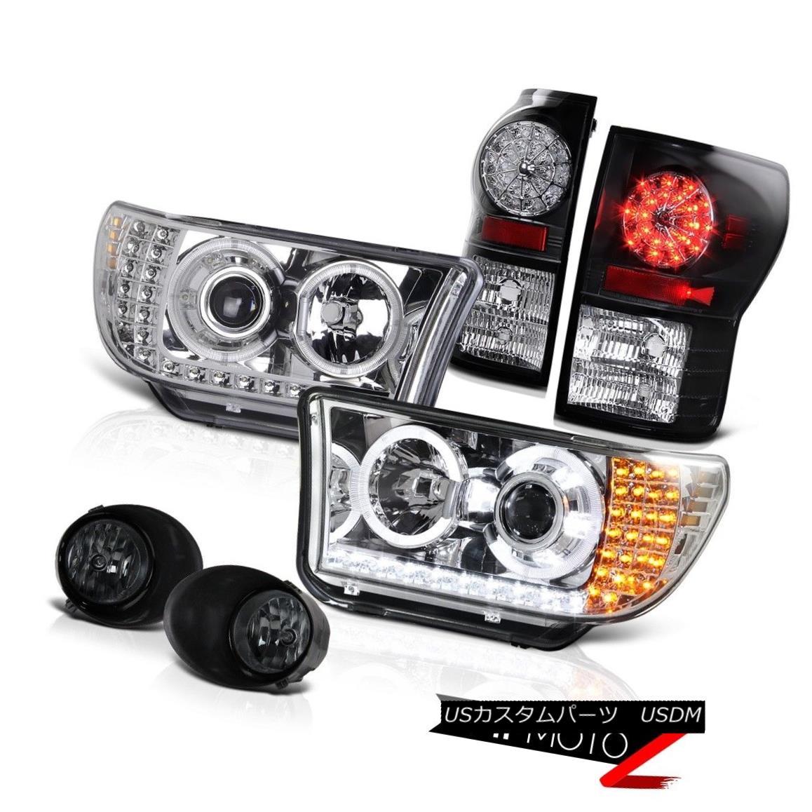テールライト 2007-13 Tundra Chrome Projector Led Headlight+Led Tail Light+Fog Lamp 2007?13年トンドラクロームプロジェクターヘッドライト+ Ledテールライト+フォグランプ