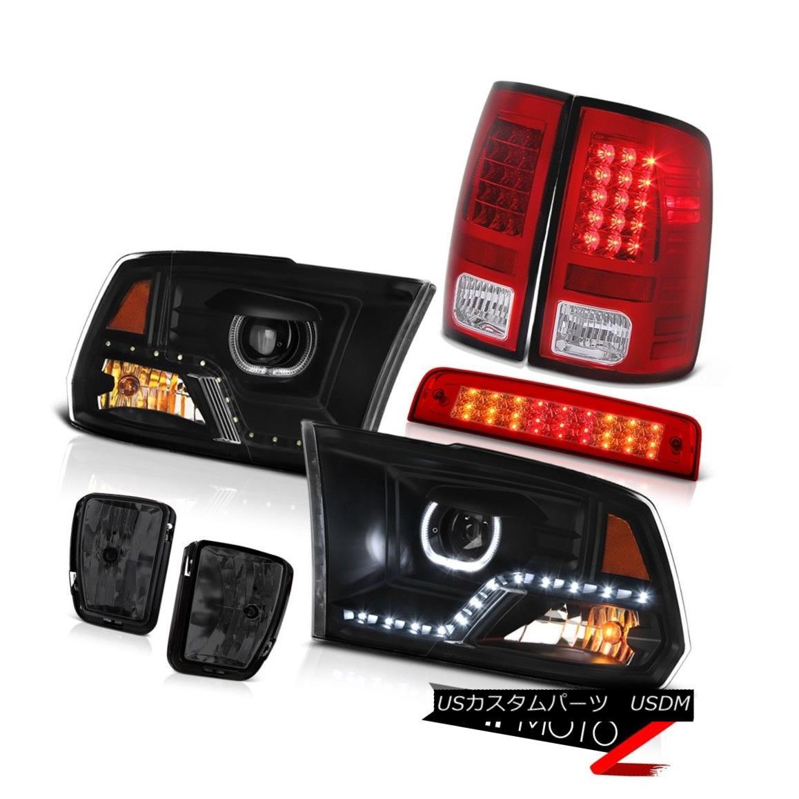 テールライト 13-18 Dodge RAM 1500 Head Light Brake Smoked Driving Lamp Tail Light SET PAIR 13-18 Dodge RAM 1500ヘッドライトブレーキスモークドライビングランプテールライトSET PAIR