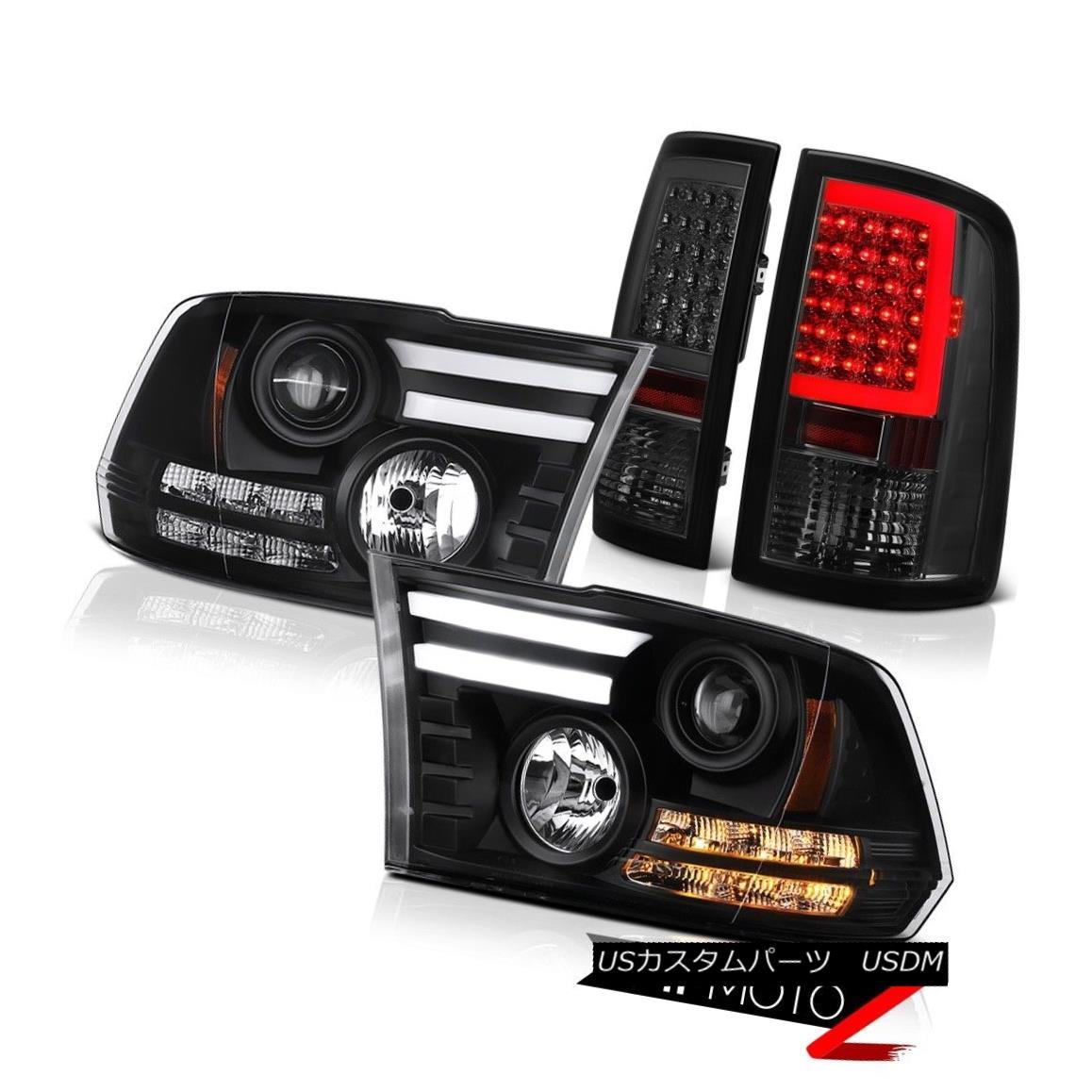 テールライト 09 10 11 12 13-18 Dodge RAM 3500 Tail Lights Fiber Optic Headlamps Assembly PAIR 09 10 11 12 13-18ダッジRAM 3500テールライト光ファイバーヘッドランプアセンブリPAIR