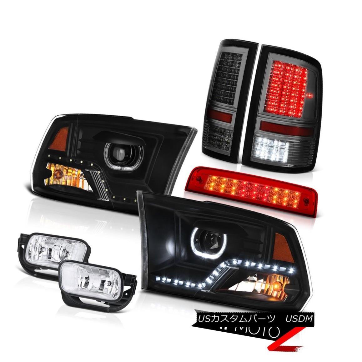 テールライト 2010-2018 Dodge RAM 2500 3500 Head Lamp Red Brake Light Tail Fog Lamps Assembly 2010-2018ダッジRAM 2500 3500ヘッドランプレッドブレーキライトテールフォグランプアセンブリ