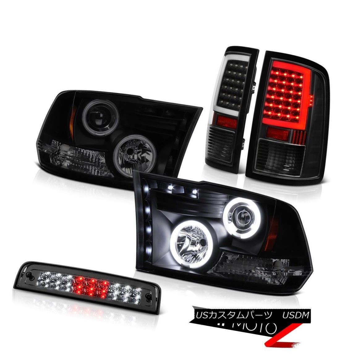 テールライト 09-16 17 18 Dodge RAM 3500 LED Tail Light Smokey Third Brake Lights Head Lamps 09-16 17 18ダッジRAM 3500 LEDテールライトスモーキー第3ブレーキライトヘッドランプ