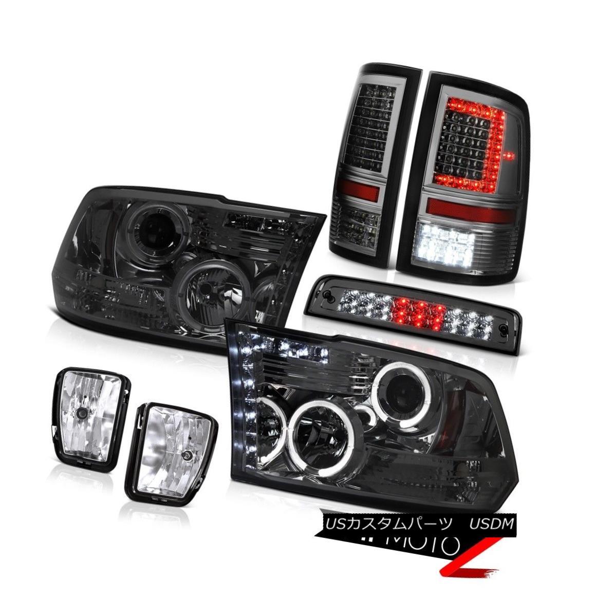 テールライト 13-18 RAM 1500 Tail Lights 3rd Brake Driving Light Headlamp Replacement SET PAIR 13-18 RAM 1500テールライト3rdブレーキ駆動ライトヘッドランプ交換SET PAIR