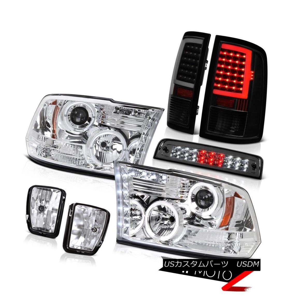 テールライト 13-18 RAM 1500 Smoke Tinted Tail Lamp Brake Light Driving Lamps Head SET PAIR 13-18 RAM 1500煙霧テールランプブレーキライト駆動ランプヘッドSET PAIR