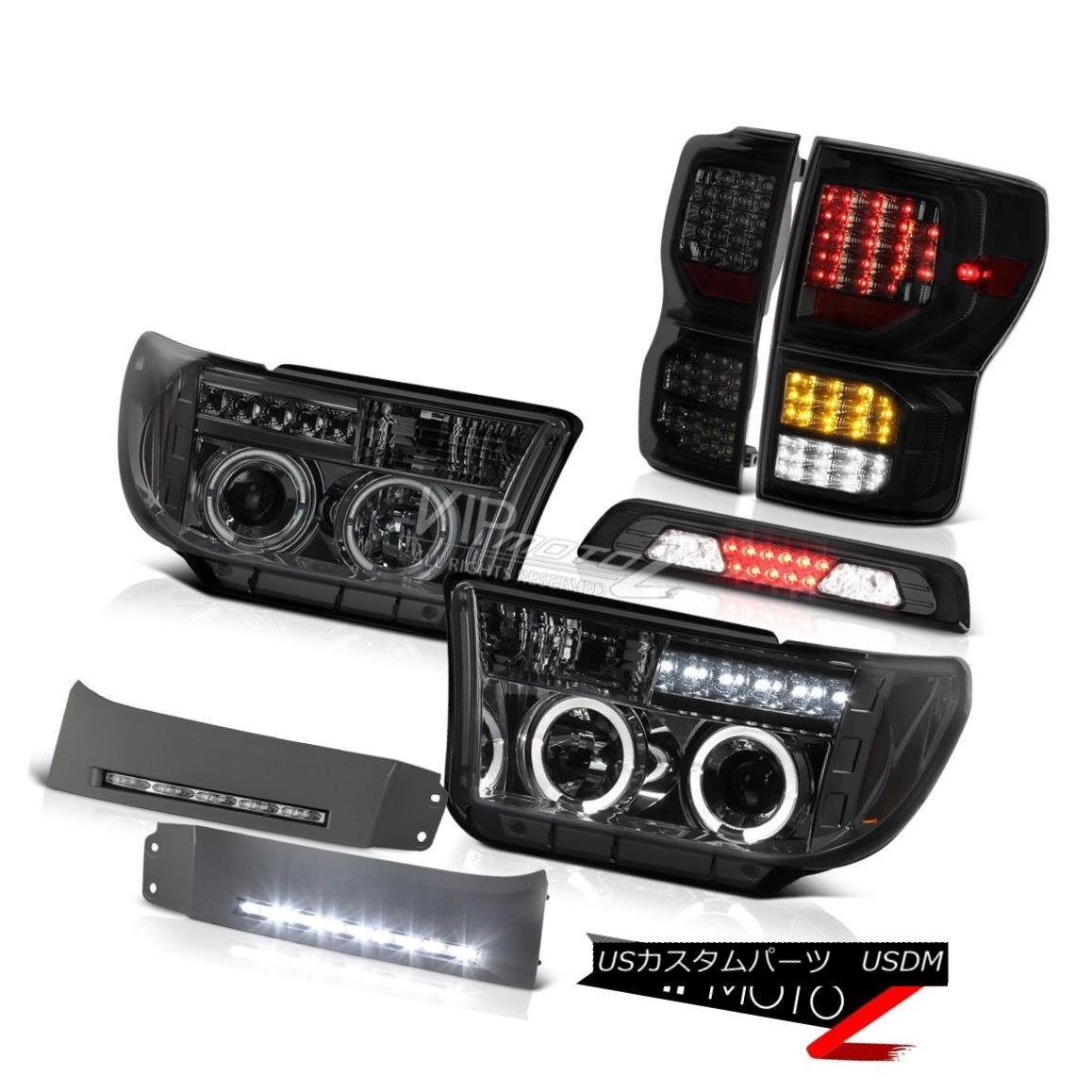 テールライト 07-13 Toyota Tundra SR5 Tail Brake Lamps Bumper DRL Third Light Headlamps LED 07-13トヨタ・トンドラSR5テール・ブレーキ・ランプバンパーDRL第3ライト・ヘッドランプLED