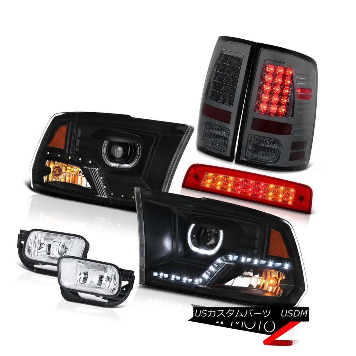 テールライト 09-11 12 13 Dodge RAM 1500 Headlamp Wine Red Third Brake Light Fog Lamps Tail 09-11 12 13ダッジRAM 1500ヘッドランプワインレッド第3ブレーキライトフォグランプテール