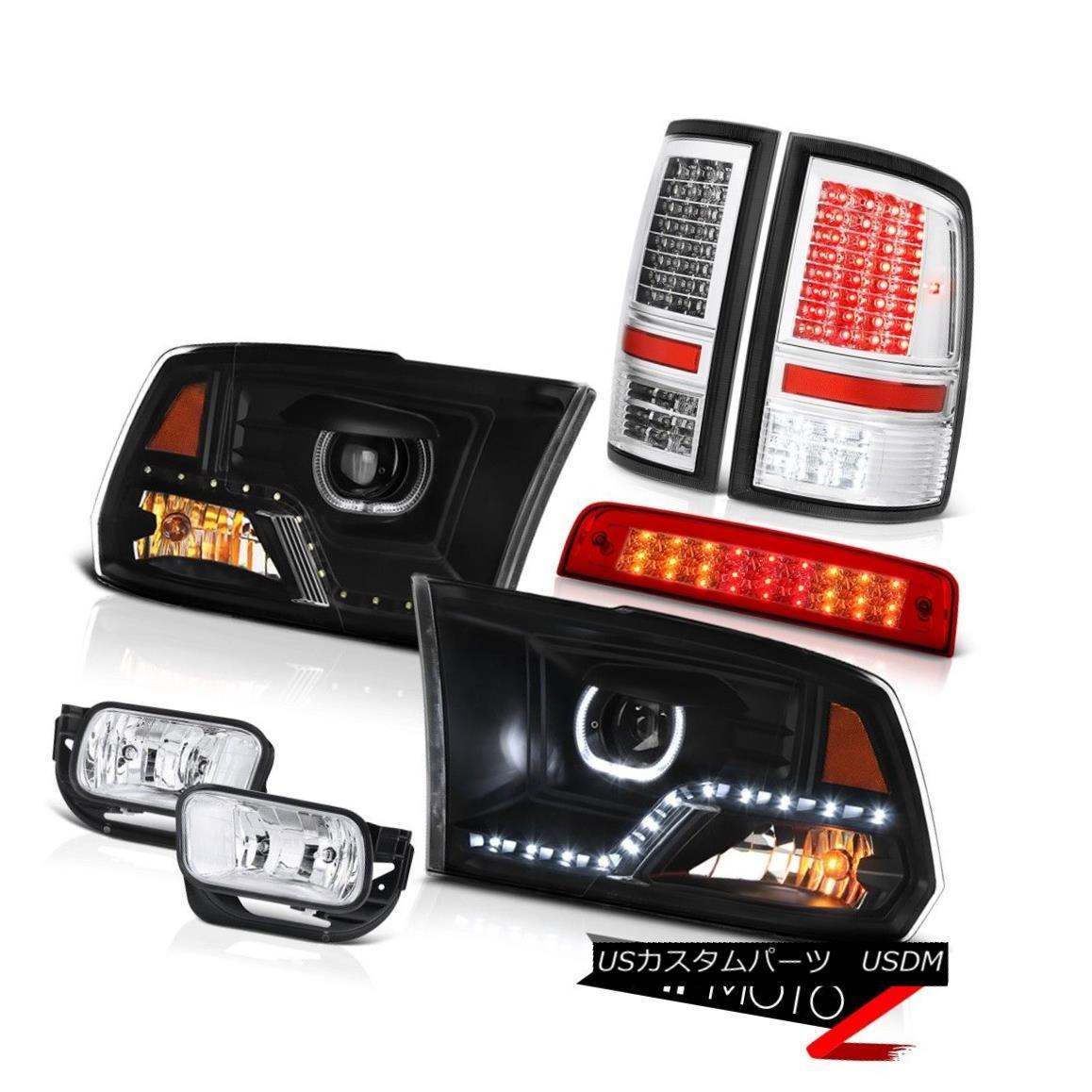 テールライト 09-13 Dodge RAM 1500 2500 3500 Headlamps Red Brake Light Tail Lights Fog Lamps 09-13 Dodge RAM 1500 2500 3500ヘッドライトレッドブレーキライトテールライトフォグランプ