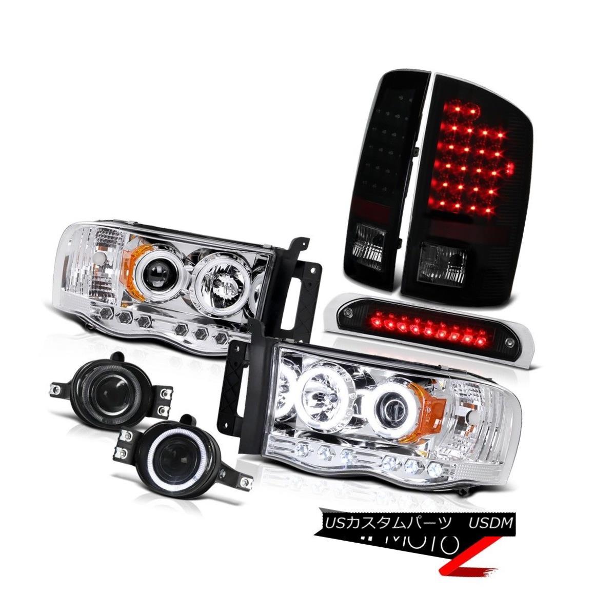 テールライト Devil's CCFL Rim Headlights Rear Taillights Fog High LED 2002-2005 Ram PowerTech 悪魔のCCFLリムヘッドライトリアタイヤライトフォグハイLED 2002-2005 Ram PowerTech