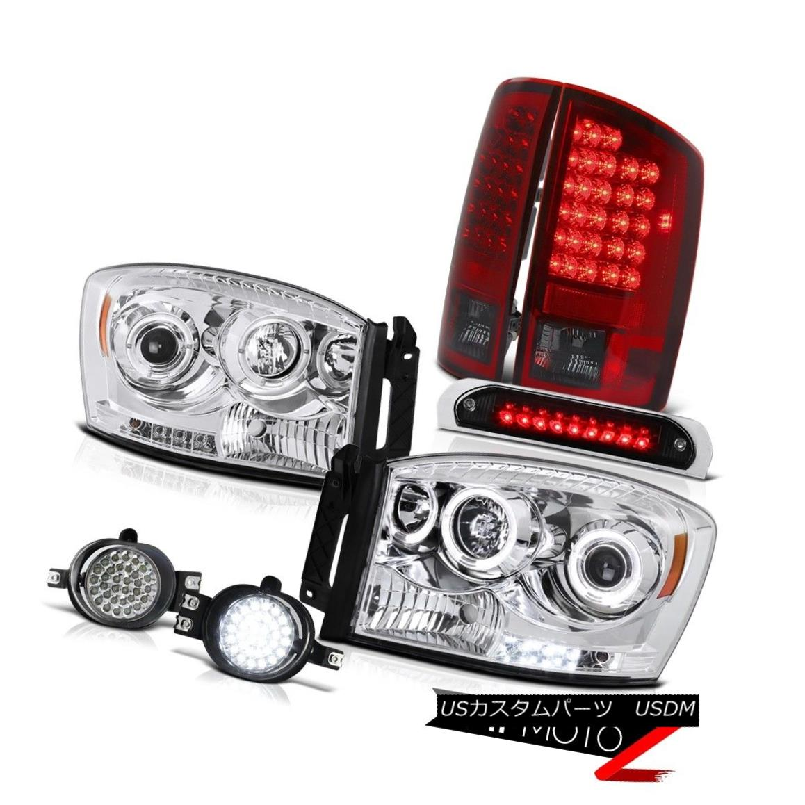 テールライト 2006 Ram 2500 LED Daytime Headlights Red Smoke Tail Lights DRL Fog Kit Black 3rd 2006 Ram 2500 LED昼間ヘッドライト赤煙テールライトDRL Fog Kit Black 3rd