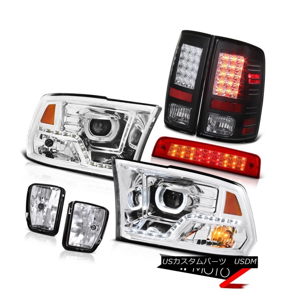 テールライト 13-18 RAM 1500 DRL Head Lamps Third Brake Lights Fog Led Tail Light Replacement 13-18 RAM 1500 DRLヘッドランプ第3ブレーキライトフォグLedテールライト交換