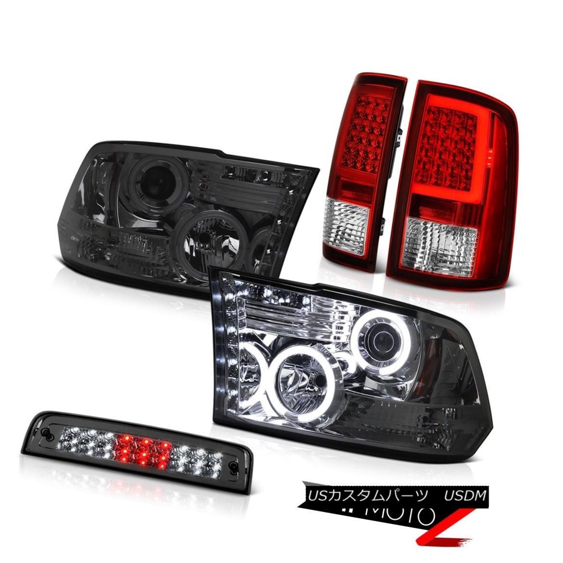 テールライト 09-16 17 18 Dodge RAM 2500 Tail Lights Dark Smoke Brake Head Light Replacement 09-16 17 18ダッジRAM 2500テールライトダークスモークブレーキヘッドライト交換