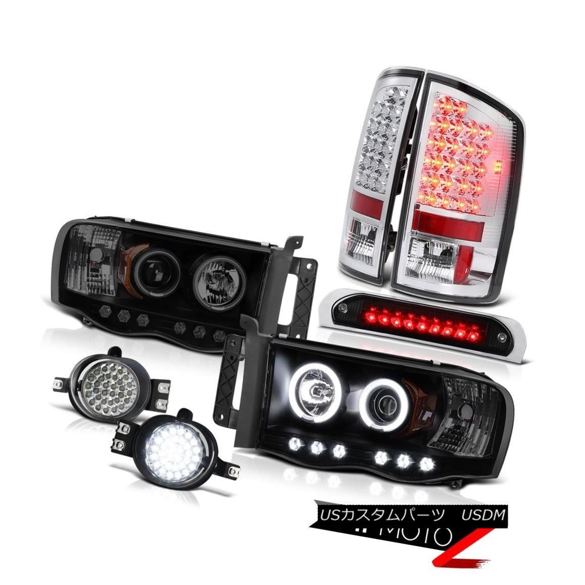 テールライト 2002-2005 Ram 2500 CCFL Rim Headlights LED Tail Lights Trim Foglight Brake Cargo 2002-2005 Ram 2500 CCFLリムヘッドライトLEDテールライトトリムフォグライトブレーキカーゴ