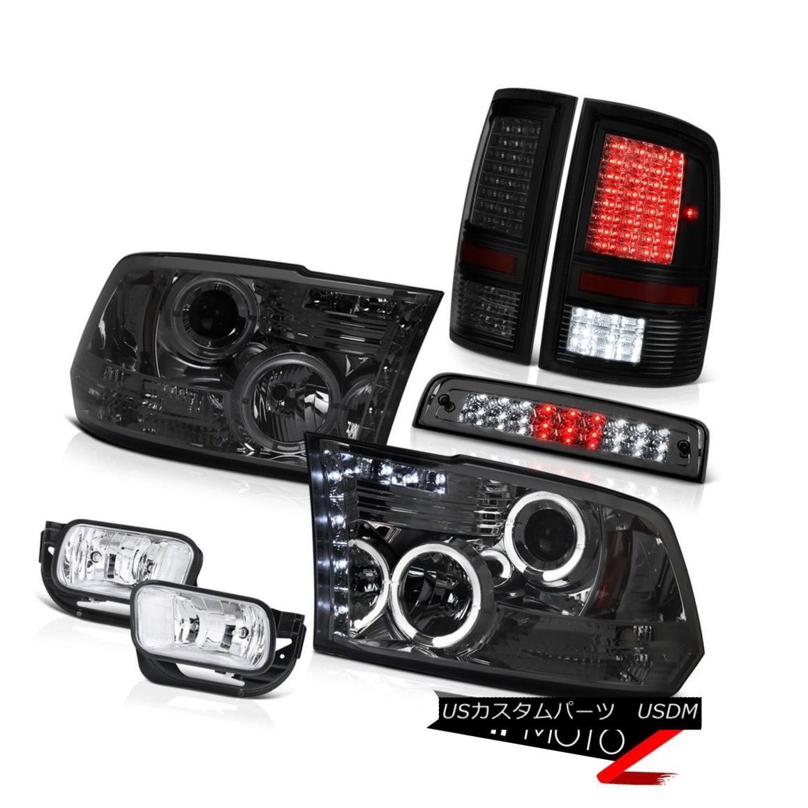 テールライト 09-13 Ram 1500 6.7L Tail Brake Lights Foglamps Roof Light Headlights Dual Halo 09-13ラム1500 6.7Lテールブレーキライトフォグランプルーフライトヘッドライトデュアルヘイロー