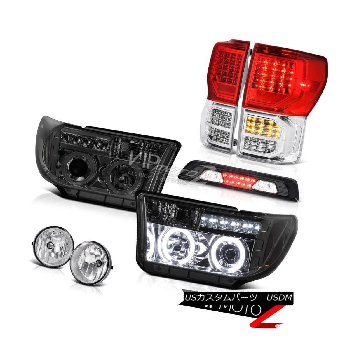 テールライト 07-13 Toyota Tundra SR5 Taillights 3RD Brake Light Headlights Fog Lamps CCFL Rim 07-13トヨタツンドラSR5テールライト3RDブレーキライトヘッドライトフォグランプCCFLリム