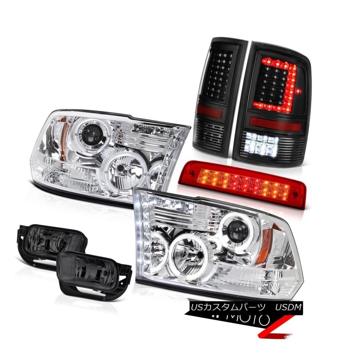 テールライト 09-14 15-18 Dodge RAM 2500 3500 Inky Black Tail Light Brake Fog Lamps Headlamps 09-14 15-18 Dodge RAM 2500 3500 Inky Blackテールライトブレーキフォグランプヘッドランプ