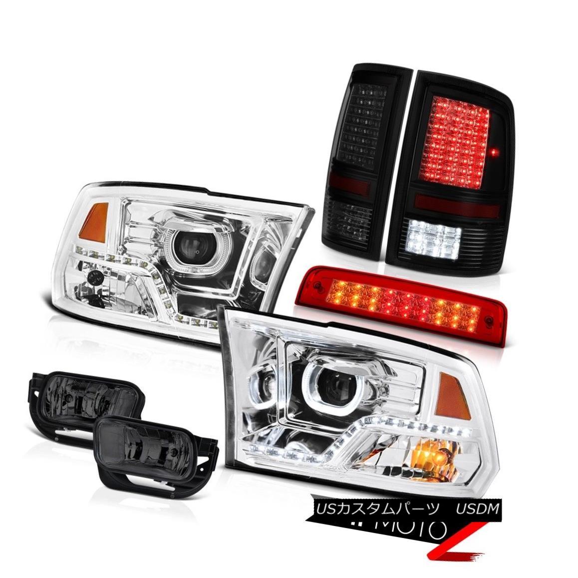 テールライト 10 11 12 13-18 Dodge RAM 3500 Euro Clear Head Lights Brake Light Tail Fog Lamp 10 11 12 13-18ダッジRAM 3500ユーロクリアヘッドライトブレーキライトテールフォグランプ