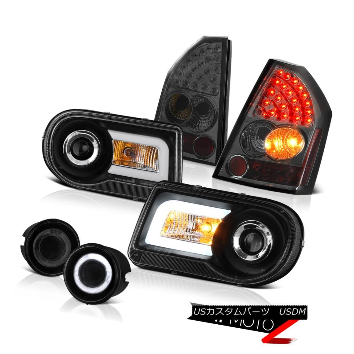 テールライト 08-10 Chrysler 300C LED Projector Headlights Smoked L.E.D Tail Lamps Halo Fog 08-10 Chrysler 300C LEDプロジェクターヘッドライトスモークL.E.DテールランプHalo Fog