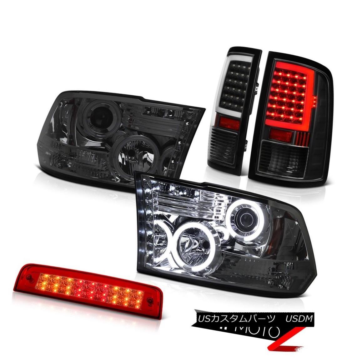 テールライト 2009-2018 Dodge RAM 3500 Inky Black Tail Lamps Red Brake Light CCFL Head Lights 2009-2018 Dodge RAM 3500 Inky Blackテールランプ赤色ブレーキライトCCFLヘッドライト