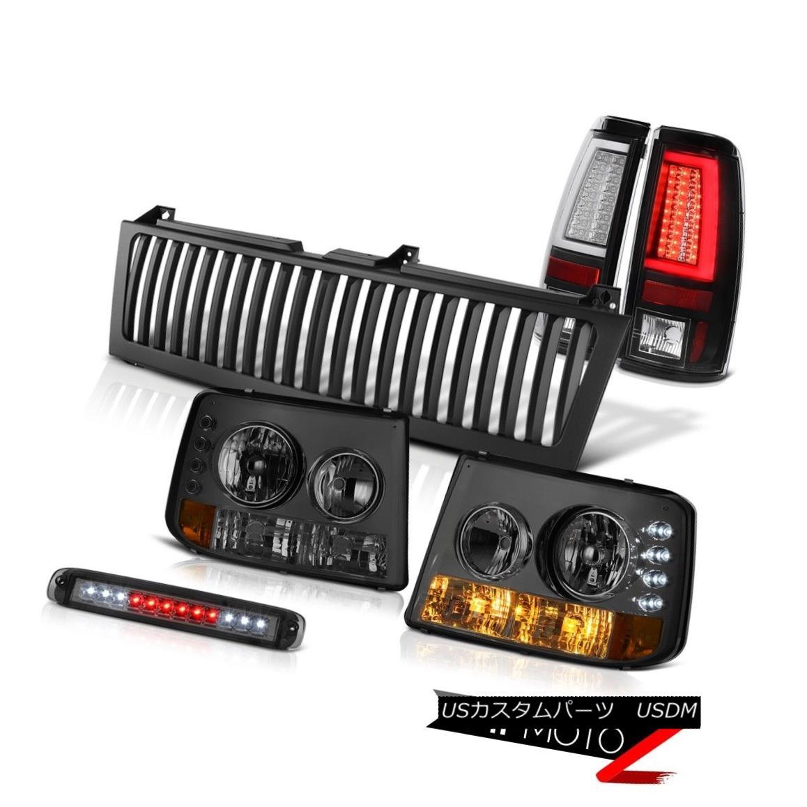 テールライト 99-02 Silverado 6.0L Rear Brake Lights Vertical Grille Smokey 3rd Lamp Tron Tube 99-02 Silverado 6.0Lリアブレーキライト垂直グリルスモーキー第3ランプトロンチューブ