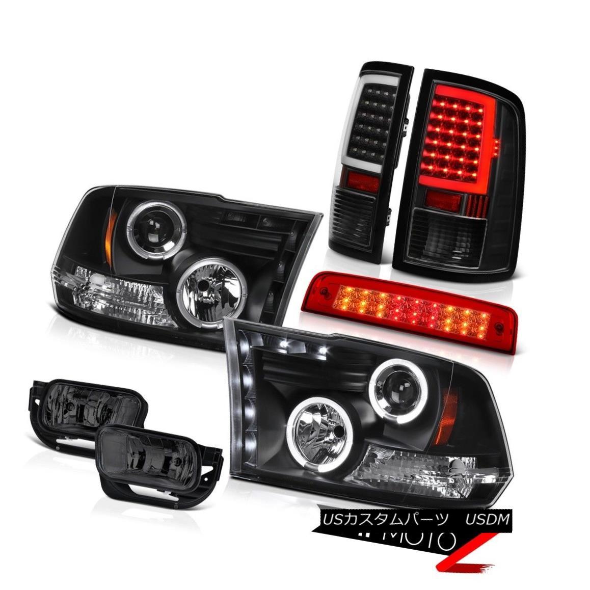 テールライト 2009-2013 Dodge RAM 1500 Inky Black Tail Lights Brake Fog Lamp Head Lamps PAIR 2009-2013ダッジRAM 1500 Inky BlackテールライトブレーキフォグランプヘッドランプPAIR