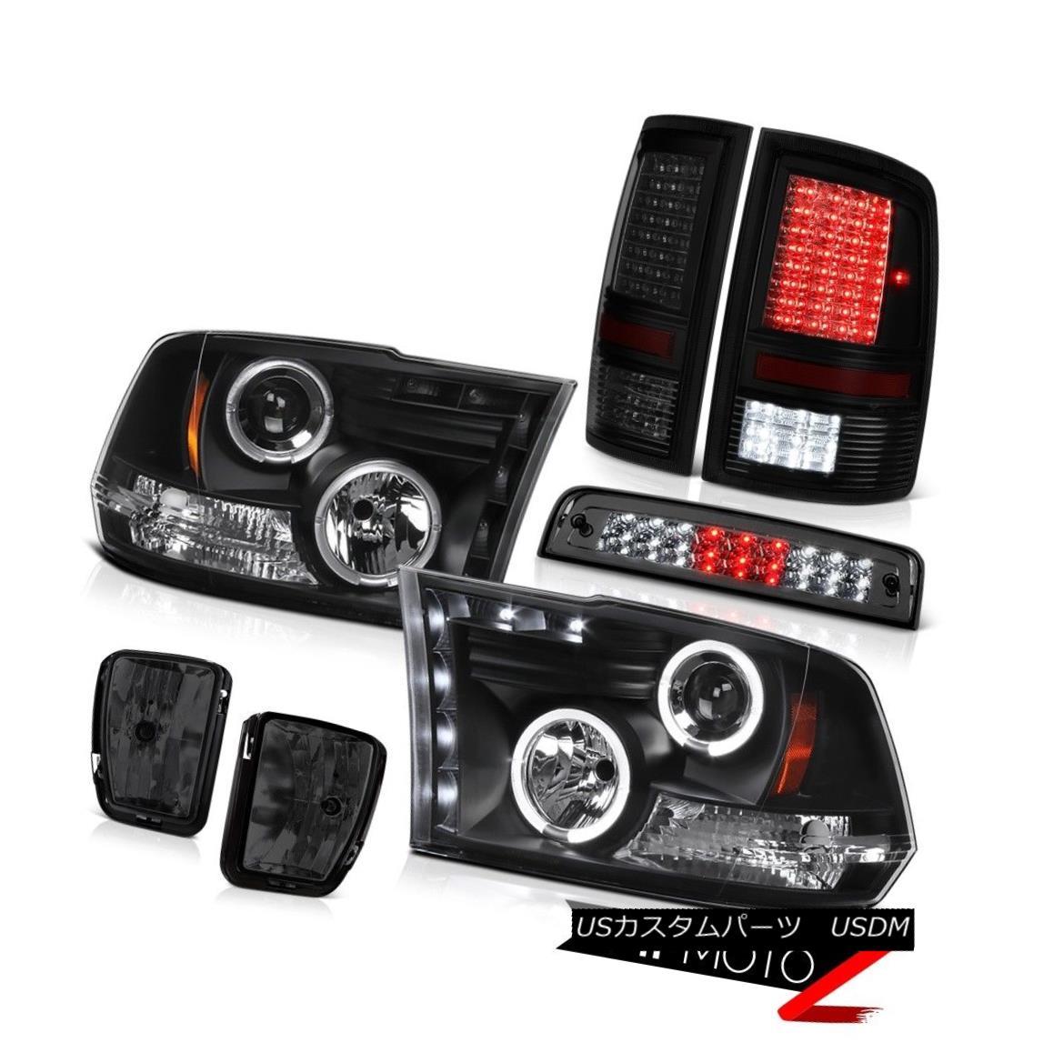 テールライト 13-18 Ram 1500 Big Horn Smokey Foglights Taillights 3RD Brake Light Headlamps 13-18ラム1500ビッグホーンスモーキーフォグライトテールライト3RDブレーキライトヘッドランプ