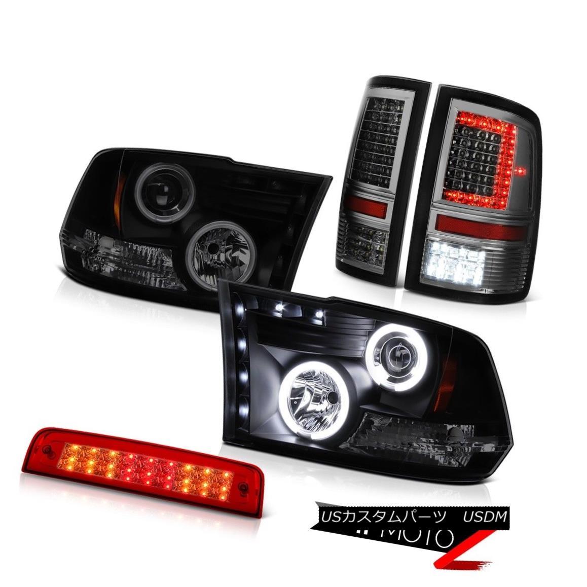 Purple LED DRL Halo Angel Eye Projector Fog Lights Lamp Kit Fits 02-08 Dodge Ram