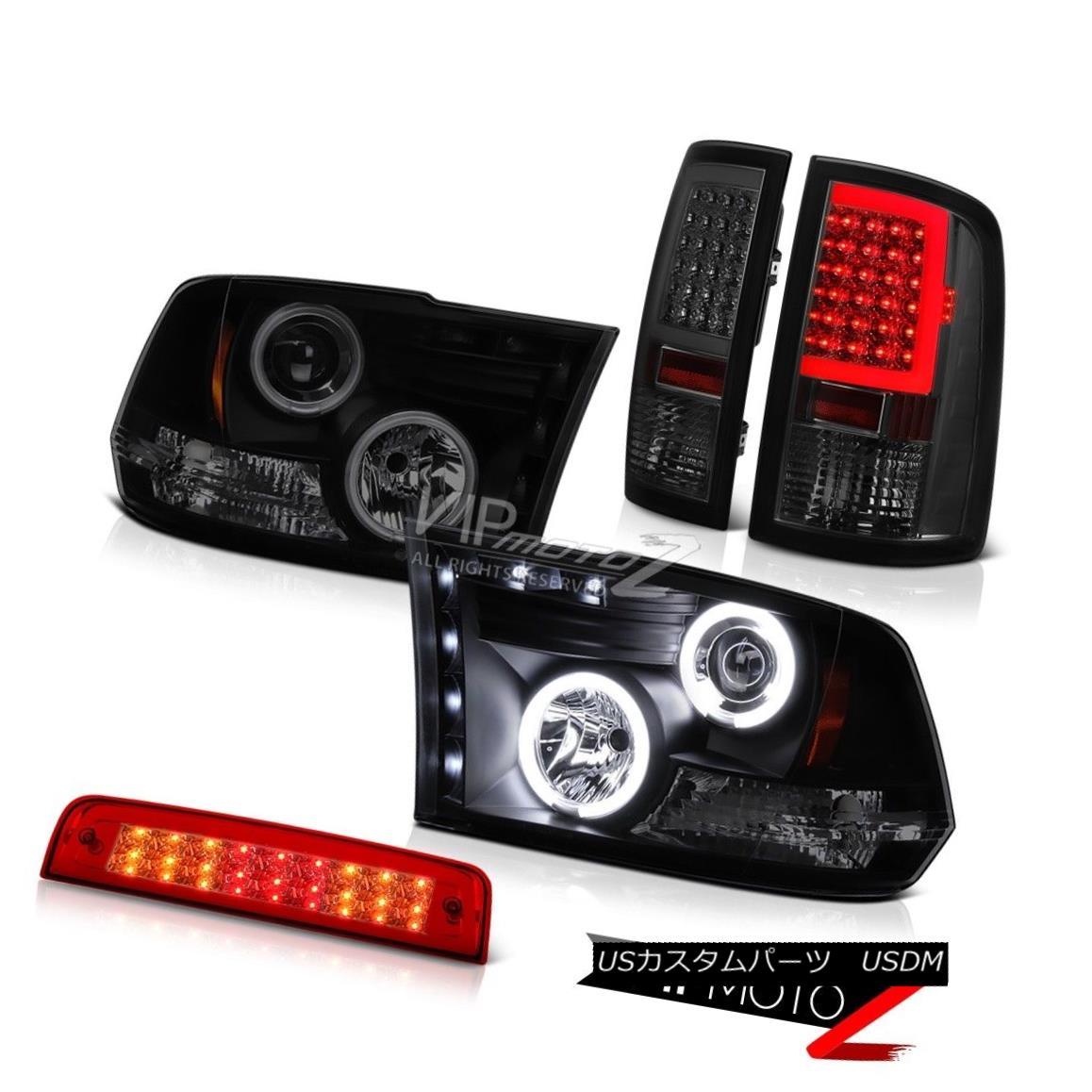 テールライト 09 10 11 12 13-18 Dodge RAM 2500 3500 Smokey Tail Light Brake Head Lamps PAIR 09 10 11 12 13-18ダッジRAM 2500 3500スモーキーテールライトブレーキヘッドランプペア