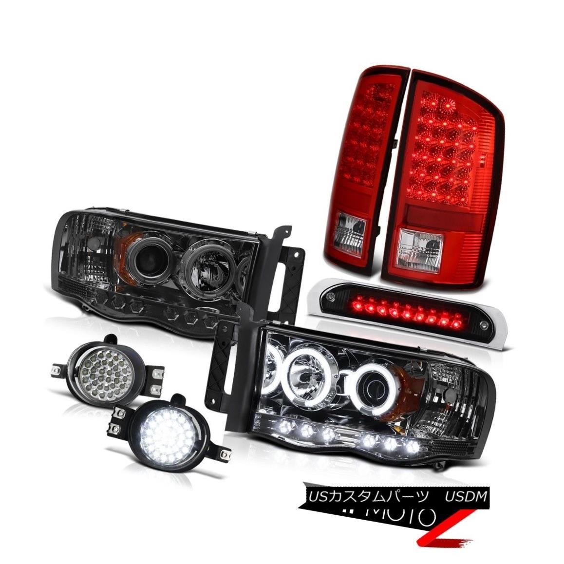 テールライト Quality CCFL Headlight RED LED Tail Light Assembly Fog Brake 02-05 Ram PowerTech 品質CCFLヘッドライトRED LEDテールライトアセンブリフォグブレーキ02-05 Ram PowerTech
