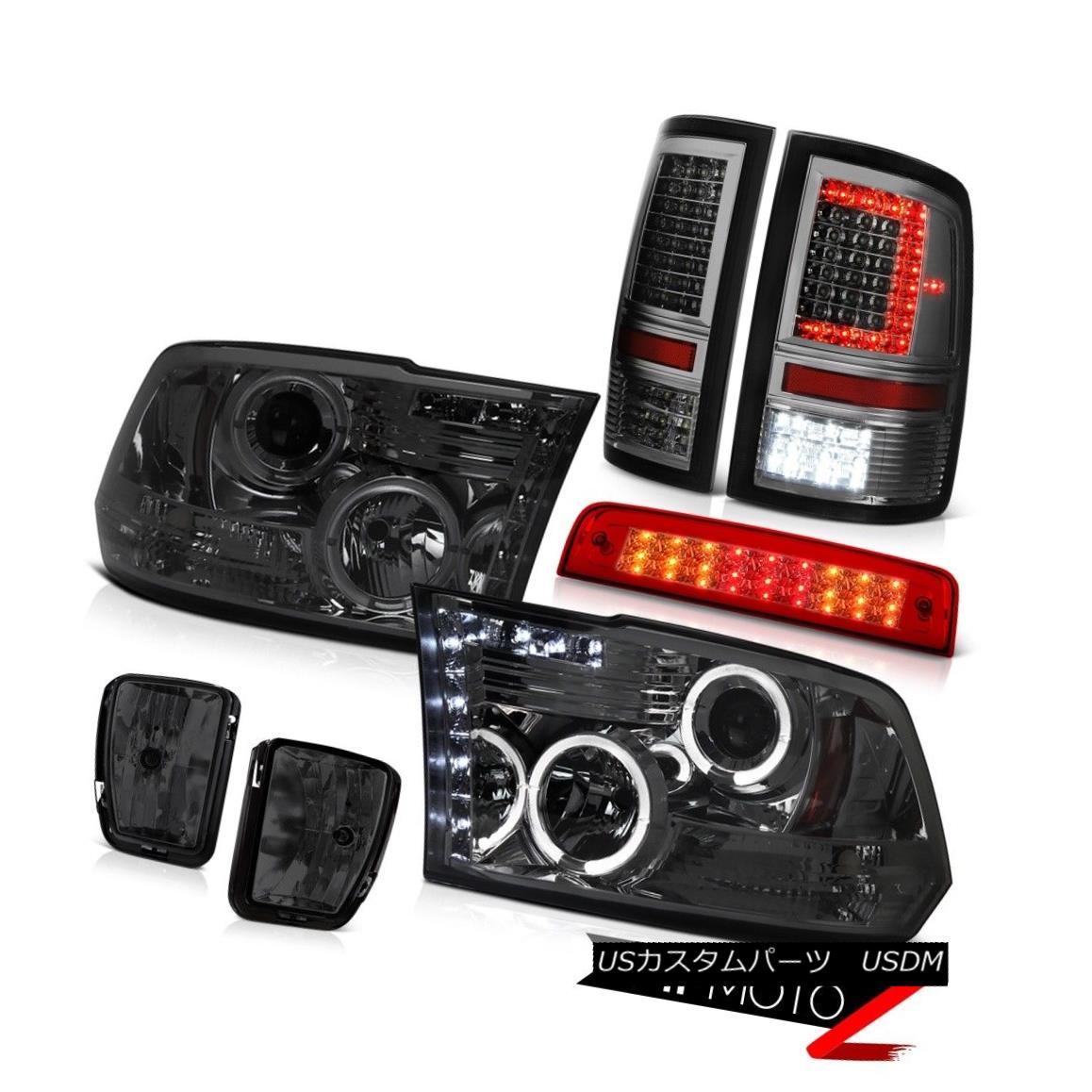テールライト 13-18 Dodge RAM 1500 Tail Light 3rd Brake Fog Lights Headlamp Replacement SET 13-18 Dodge RAM 1500テールライト3rdブレーキフォグライトヘッドランプ交換セット