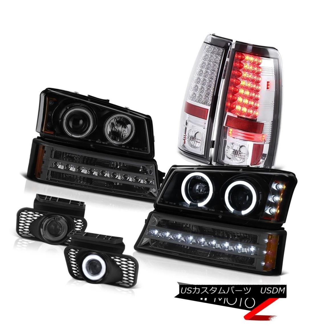 テールライト 2003-2006 Chevy Silverado Smokey fog lights taillights signal light headlights 2003-2006シボレーシルバラードスモーキーフォグライトテールライト信号ライトヘッドライト