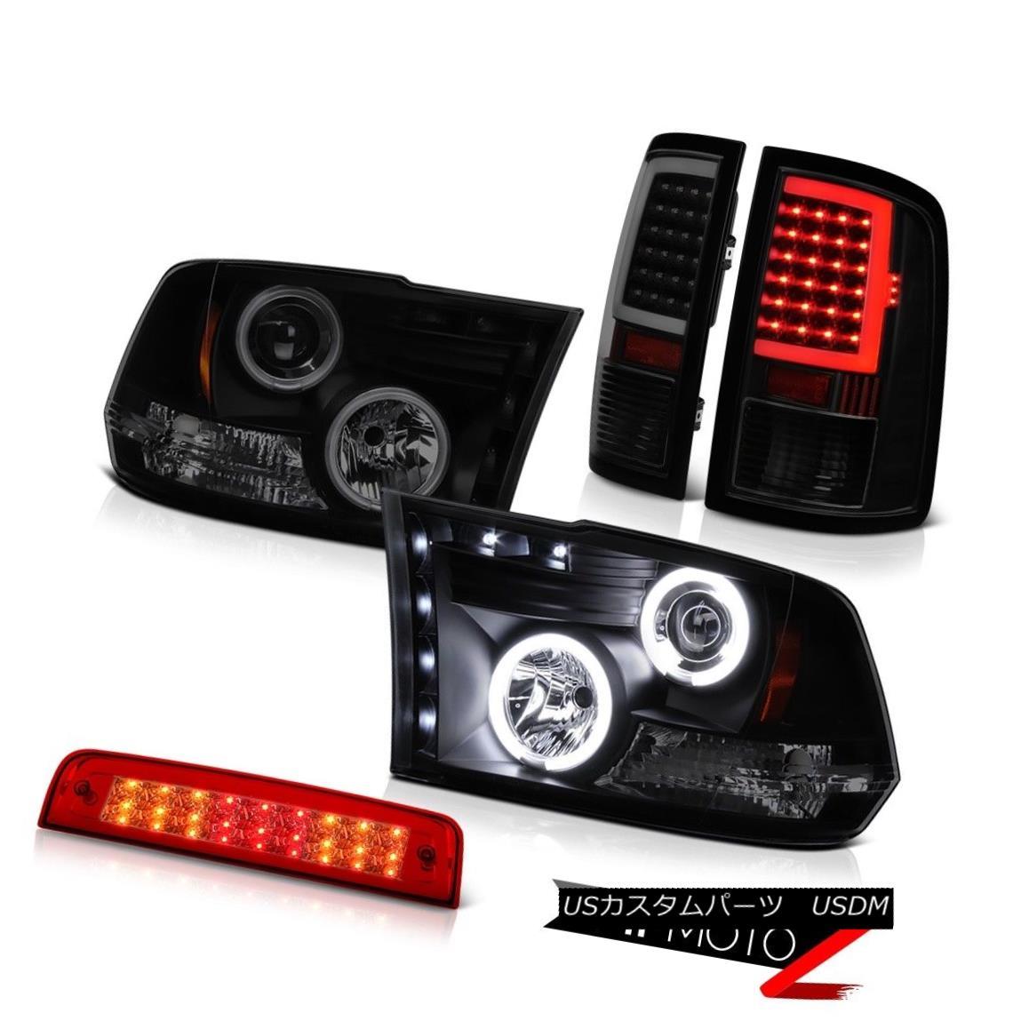 テールライト 09-18 Dodge RAM 3500 Fiber Optic Tail Lights Red Brake CCFL Headlamp Replacement 09-18ダッジRAM 3500光ファイバーテールライト赤ブレーキCCFLヘッドランプ交換