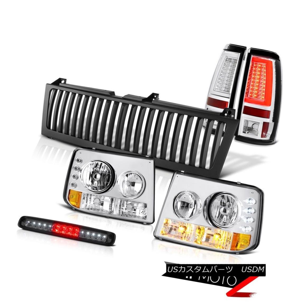 テールライト 99-02 Silverado 6.0L Taillamps Vertical Grille Smoked Roof Cab Lamp