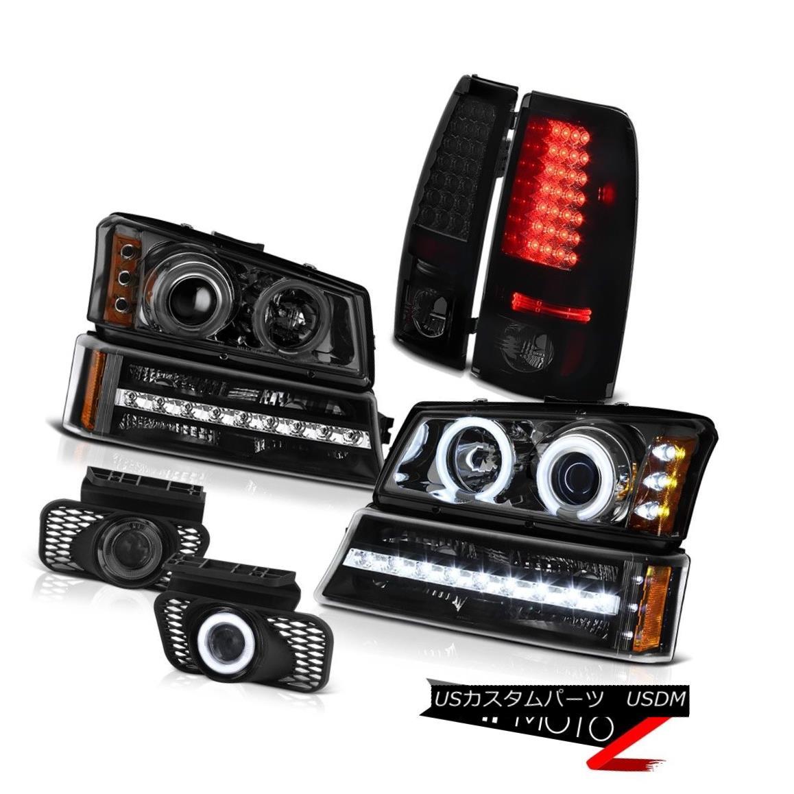テールライト 03-06 Silverado 3500HD Foglights smoke tinted taillights turn signal headlamps 03-06シルバラード3500HDフォグライトターンテイリングテールライトターンシグナルヘッドランプ