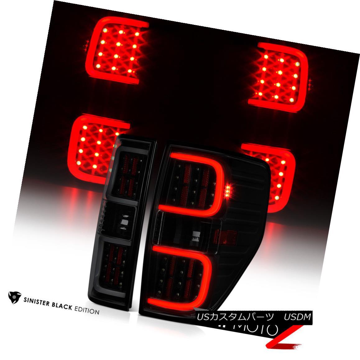 テールライト [DARKEST SMOKE] LED Tube Tail Lights Lamps