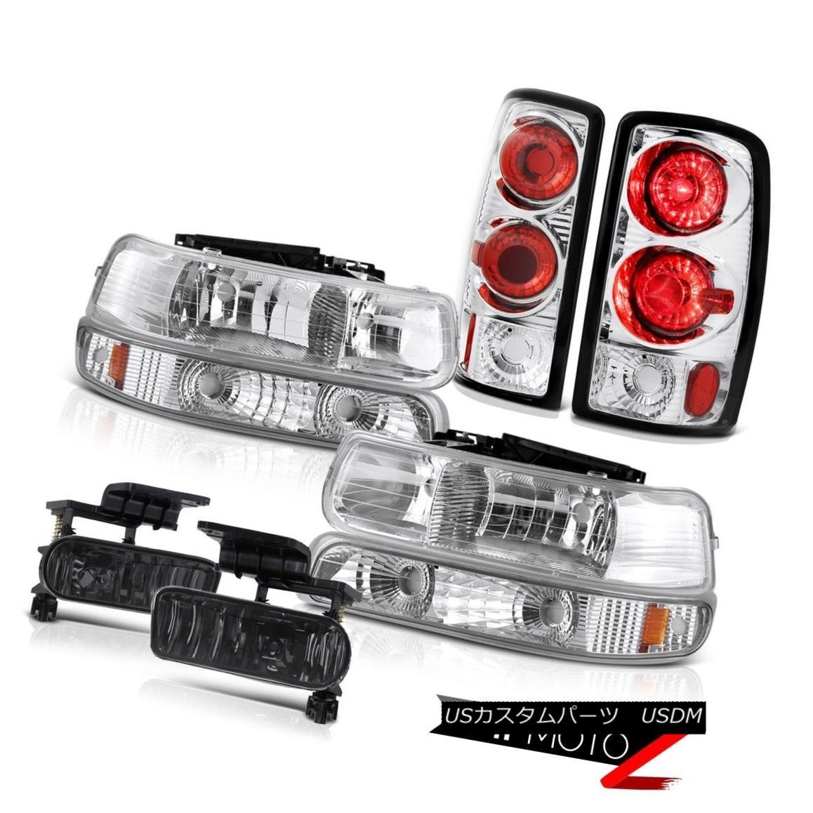 テールライト 2000-2006 Suburban 5.7L Crystal Parking Headlights Chrome Brake Lamps Foglights 2000-2006郊外5.7Lクリスタルパーキングヘッドライトクロームブレーキランプフォグライト
