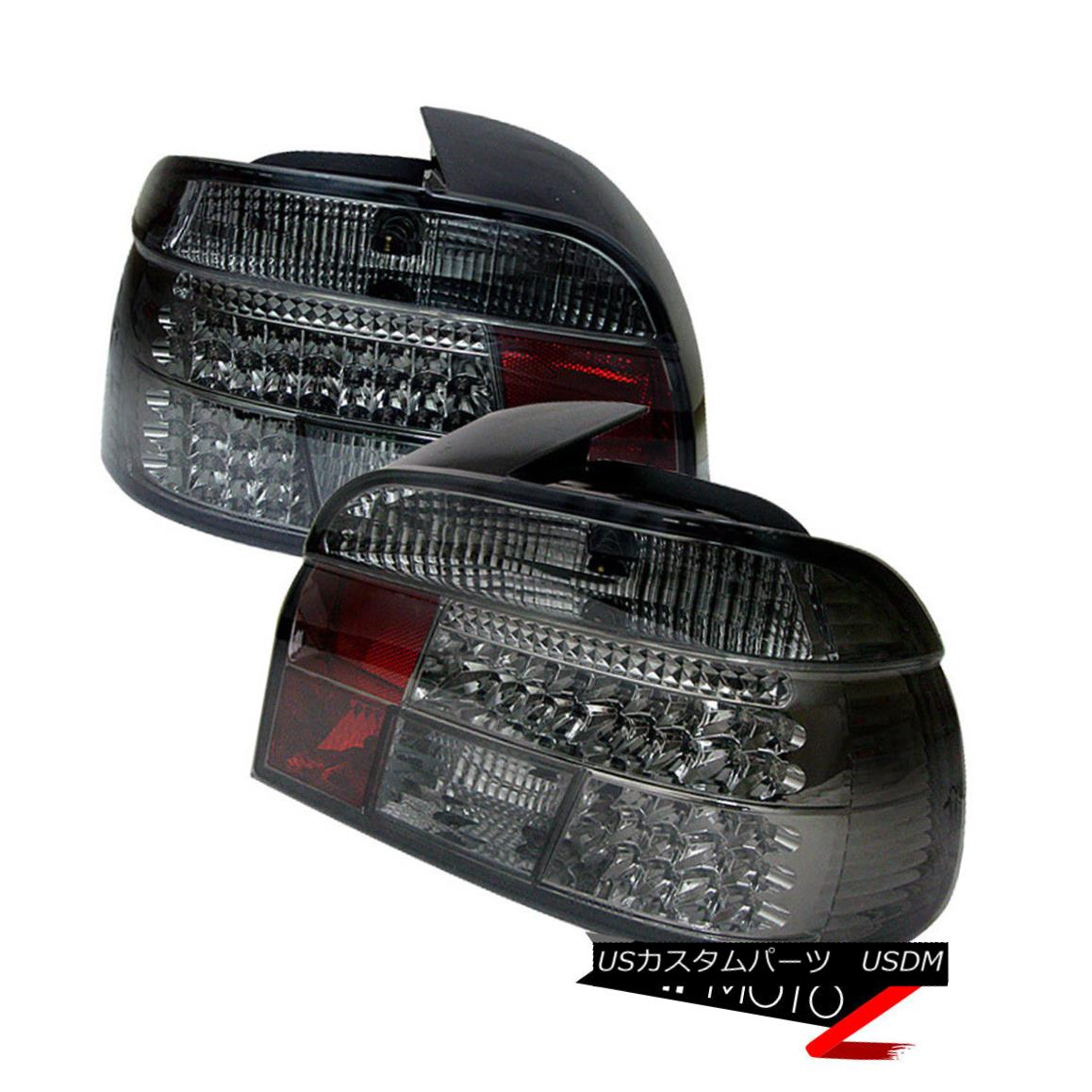 テールライト 97-2000 BMW E39 5-Series LED (SMOKE LENS) Tail Light Lamp Rear Brake Pair LH RH 97-2000 BMW E39 5シリーズLED(SMOKE LENS)テールライトランプリアブレーキペアLH RH