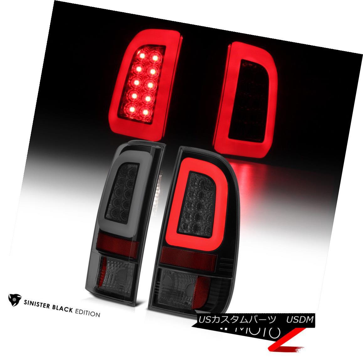 テールライト 97-03 Ford F150 Black Housing Smoked Lens LED Bar Brake Signal Lamp Tail Light 97-03 Ford F150ブラックハウジングスモークレンズLEDバーブレーキ信号ランプテールライト