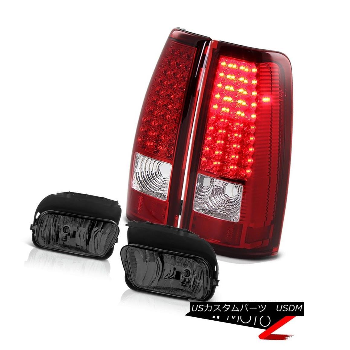 テールライト Red Chrome SMDEuro LED Tail Lights Driving Foglights 2005 2006 Silverado 6.0 V8 レッドクロムSMDユーロLEDテールライトフォグライト2005年を運転するSilverado 6.0 V8