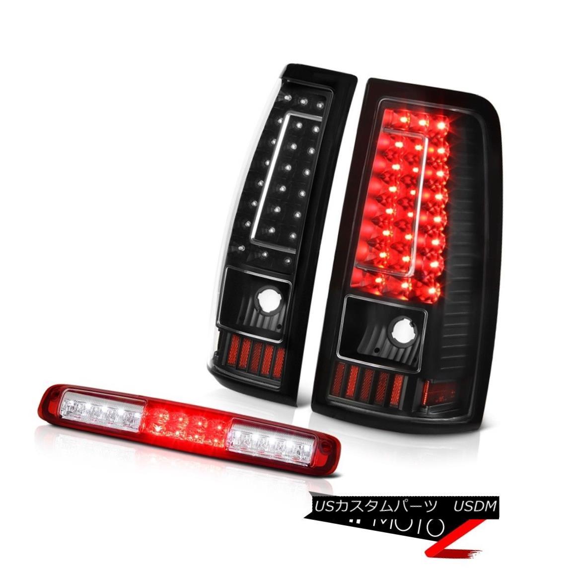 テールライト 03 04 05 06 Silverado Bloody Red Roof Cab Light Raven Black Rear Brake Lamps 03 04 05 06シルヴァード・ブラッディ・レッド・ルーフ・キャブ・ライト・レイヴン・ブラックリア・ブレーキ・ランプ