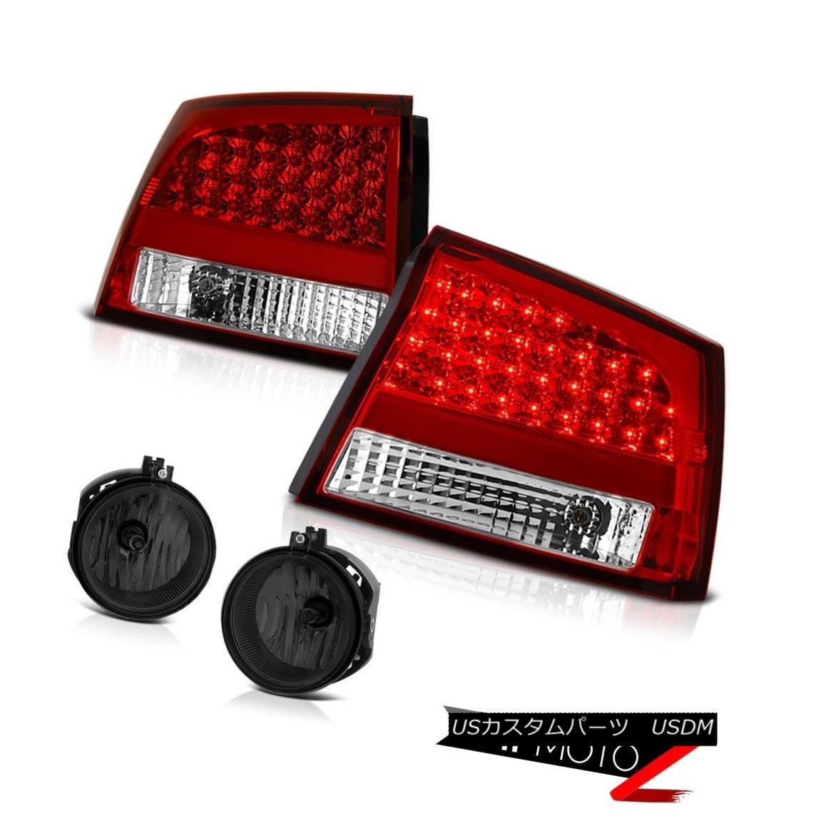 テールライト 2006 2007 2008 Dodge Charger Hemi LED Tail Lights Bumper Driving Smoke Foglights 2006年2007年2008年ダッジ充電器Hemi LEDテールライトバンパー駆動スモークフォグライト