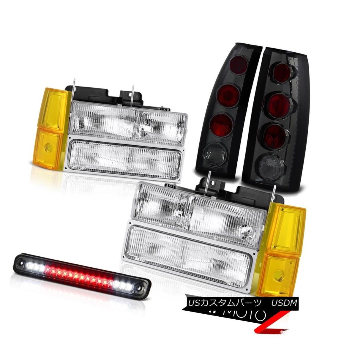 テールライト 1994-1998 GMC C3500 Headlights Bumper Dark Smoke Roof Cab Lamp Tail Lights LED 1994-1998 GMC C3500ヘッドライトバンパーダークスモーク屋根キャブランプテールライトLED