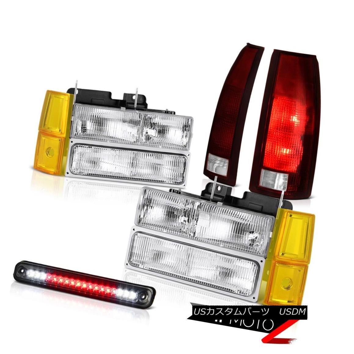 テールライト 94-98 Sierra 3500 Chrome Headlamps Bumper Roof Brake Light Taillamps OE Style 94-98 Sierra 3500クロームヘッドランプバンパールーフブレーキライトタイルランプOEスタイル