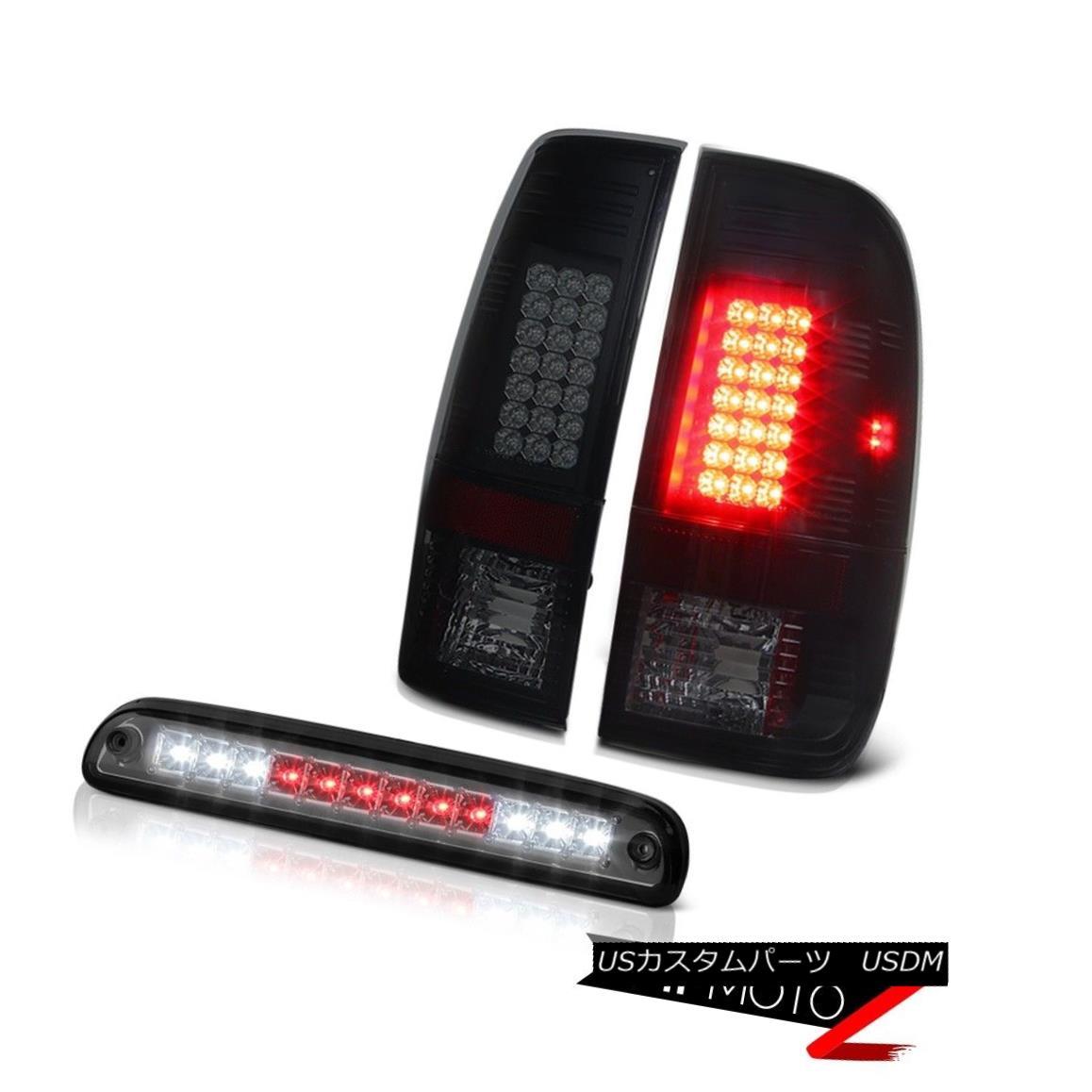 テールライト 99 00 01 02 0304 F350 XL Rear Brake Sinister Black Tail Light Tinted 3rd LED 99 00 01 02 0304 F350 XLリアブレーキシニスターブラックテールライトティンテッド3rd LED