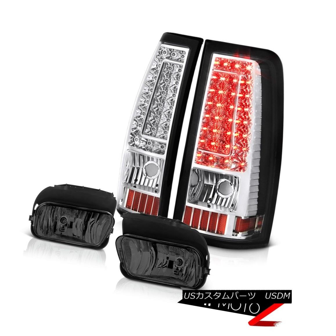 テールライト 2003-2006 Silverado Smoked Foglamps Chrome Rear Brake Lights SMD
