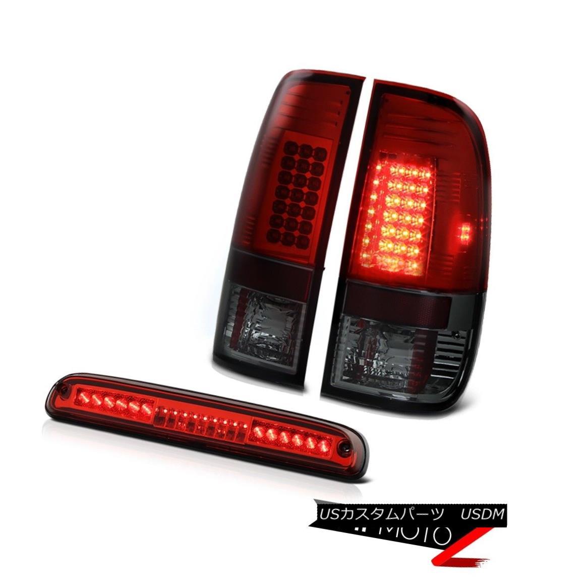 テールライト 99-04 F350 Turbo Diesel Dark Rosso Red LED Tail Light High Third Brake Cargo 99-04 F350ターボディーゼルダークロッソレッドLEDテールライトハイセカンドブレーキ貨物