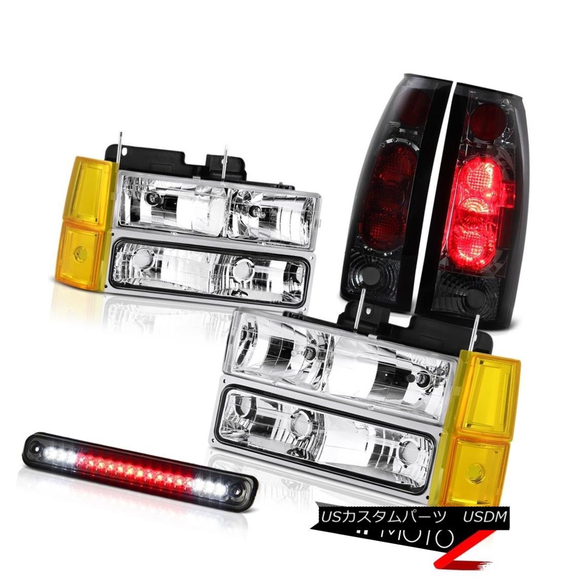 テールライト 94-98 GMC K2500 Headlights Bumper Dark Smoke Roof Brake Lamp Rear Lights Euro 94-98 GMC K2500ヘッドライトバンパーダークスモーク屋根ブレーキランプリアライトユーロ