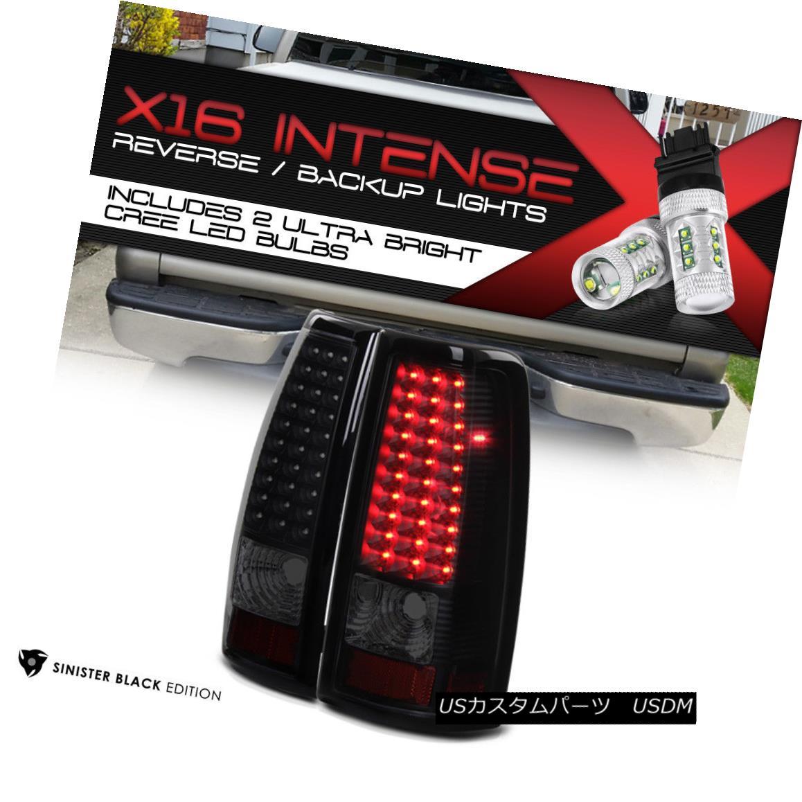 テールライト Cree LED Backup 1999-2002 Chevrolet Silverado 1500 Tail Lamps [SINISTER BLACK] クリーLEDのバックアップ1999-2002シボレーSilverado 1500テールランプ[SINISTER BLACK]