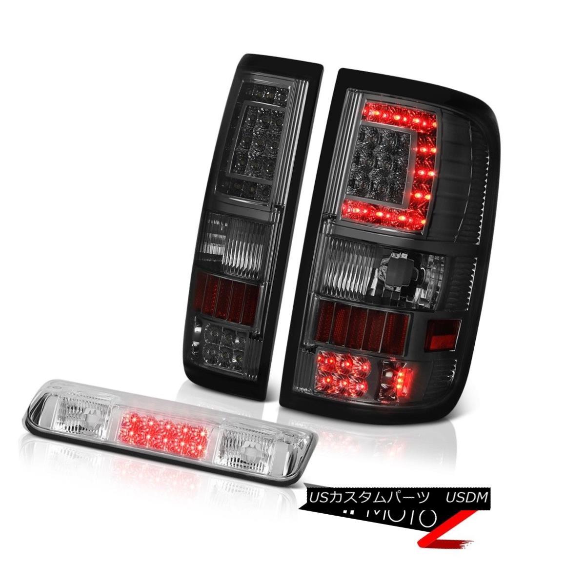 テールライト 04 05 06 07 08 Ford F150 Dark Smoke Led Bar Tail Lights Euro Clear 3Rd Brake L+R 04 05 06 07 08フォードF150ダークスモークLed Barテールライトユーロクリア3RdブレーキL + R