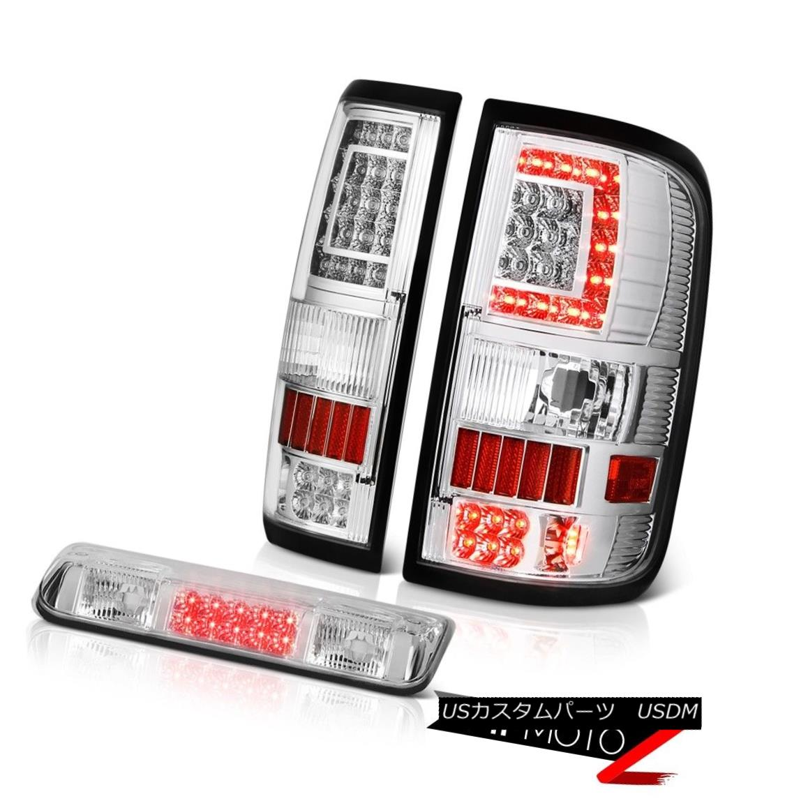 テールライト 2004-2008 Ford F150 F-150 Crystal Clear Tail Lights Third Brake Pair L+R LH+RH 2004-2008 Ford F150 F-150クリスタルクリアテールライトThird Brake Pair L + R LH + RH
